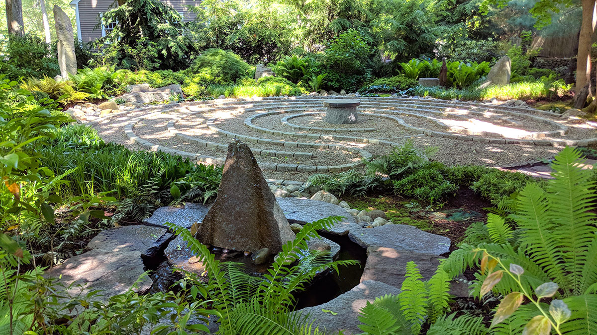 The Subtle Sound of Water Plays an Important Role in this Garden