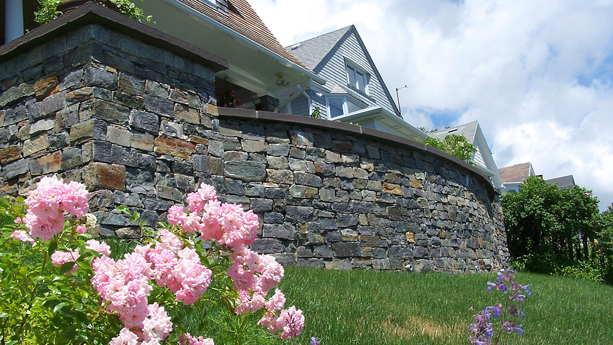 American Granite Retaining Wall