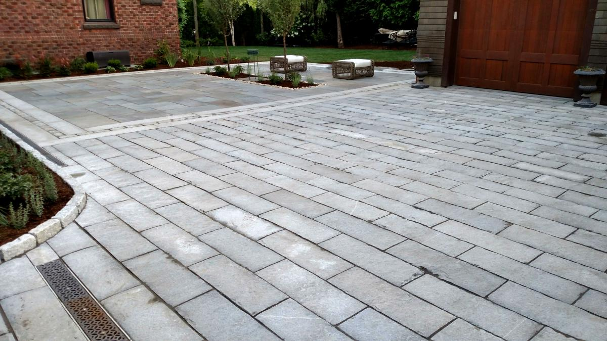 Bluestone Patio and Granite Driveway