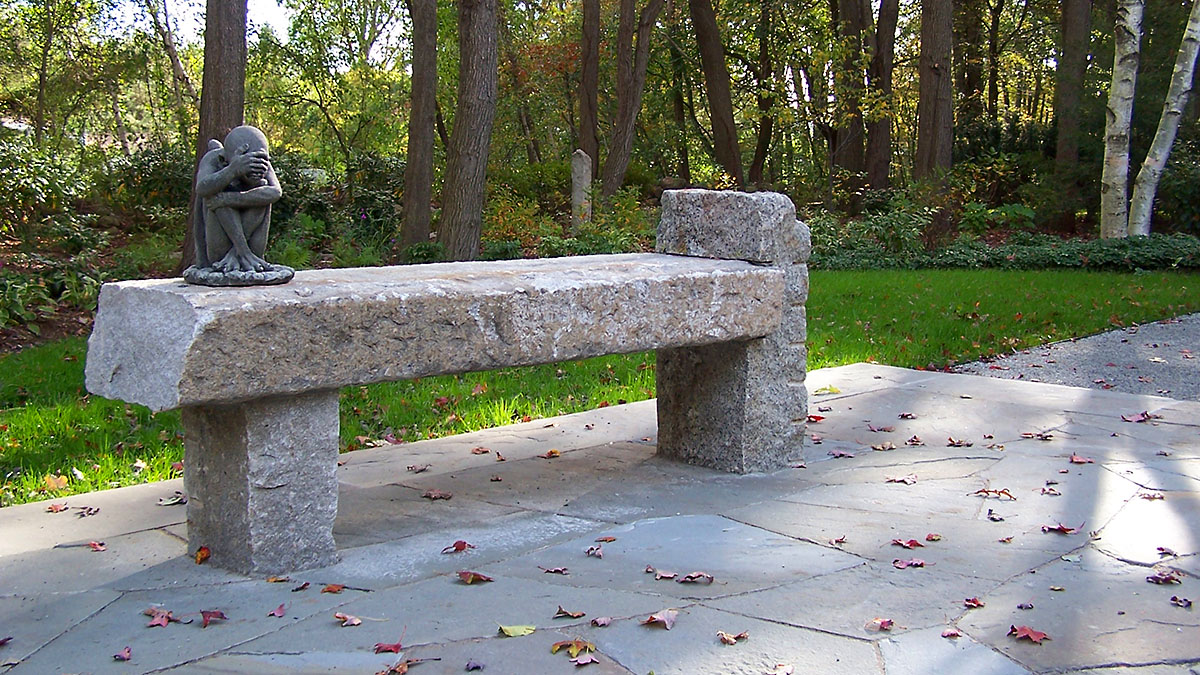 Antique Granite Bench Fabricated On Site