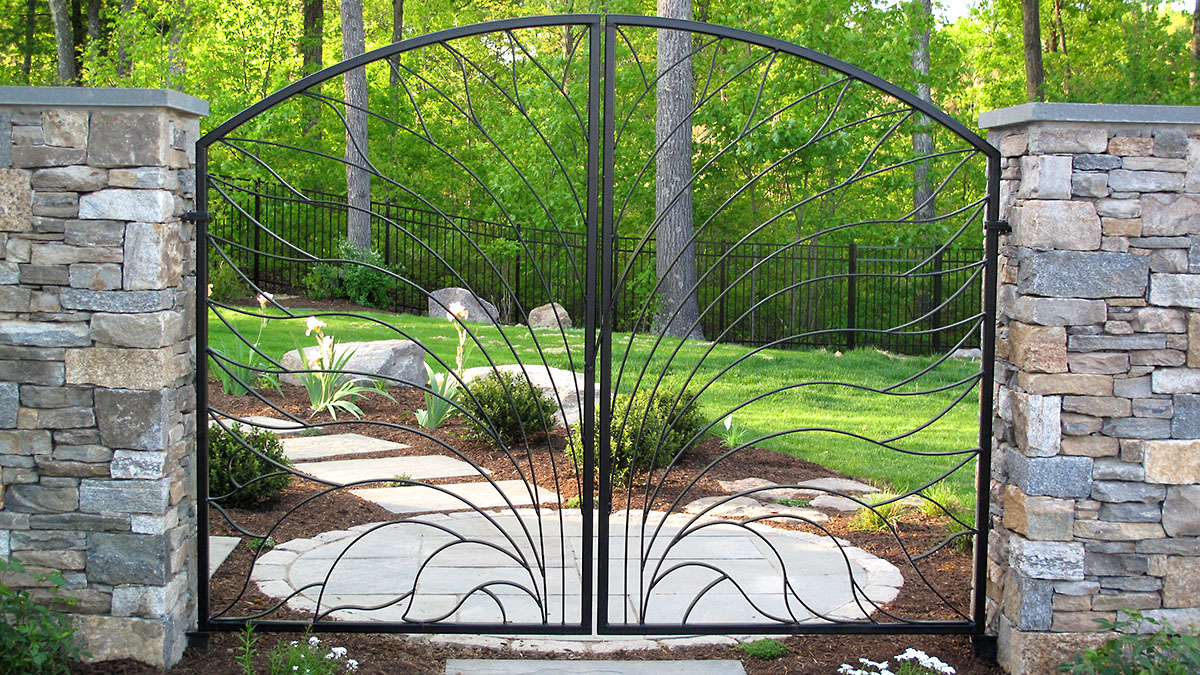 Custom Designed Gate By Jim DiSilvestro, Columns By Magma Design Group