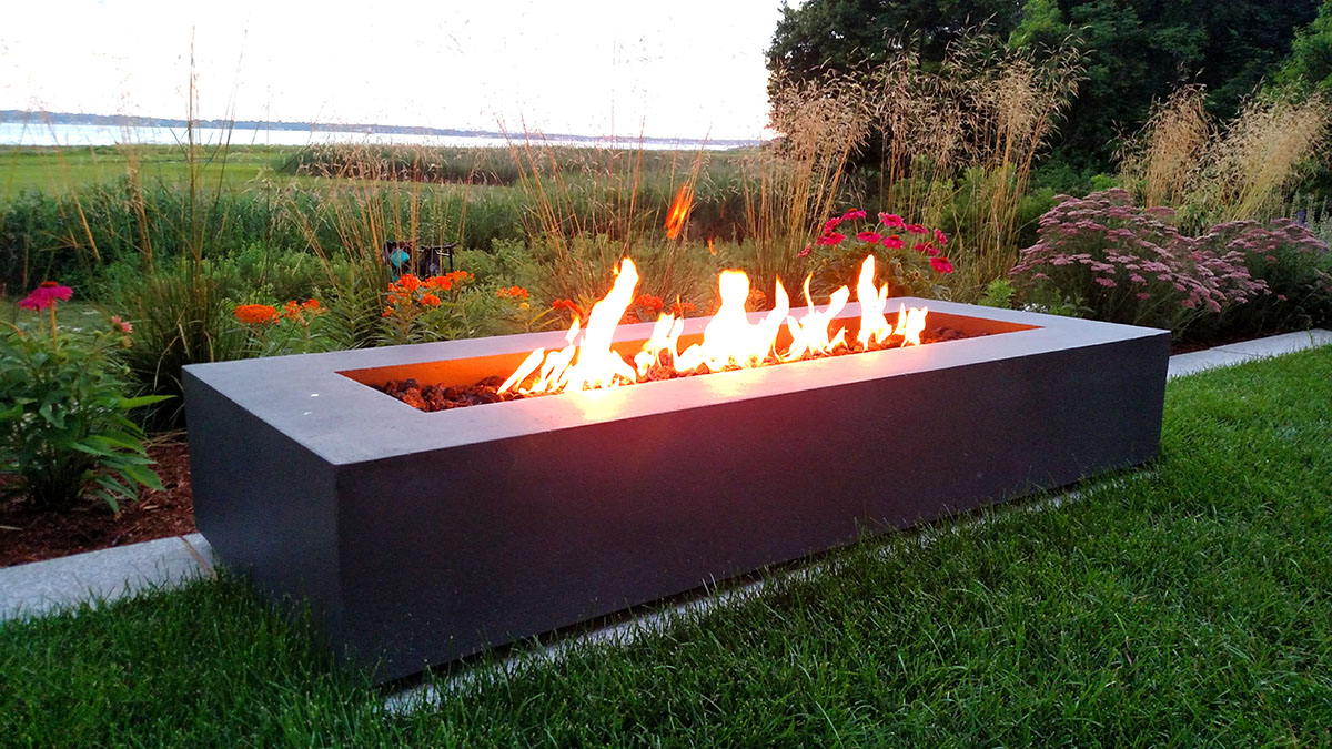 A Contemporary Fire Pit