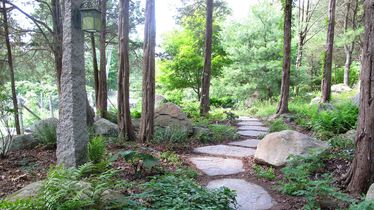 Goshen Stone Steppers Through Woodland Garden