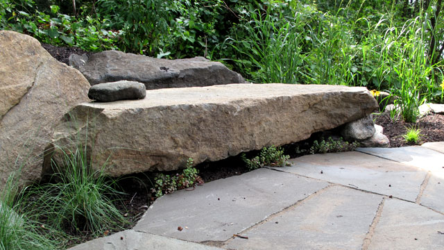 Detail Of Built-In Stone Bench