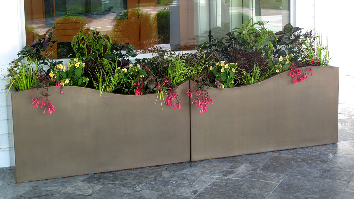 Planters Throughout the Project Add a Burst of Seasonal Color