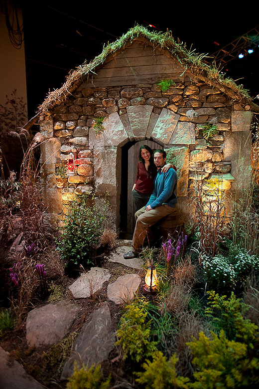 Neil And Samantha Best At The 2010 Rhode Island Flower Show